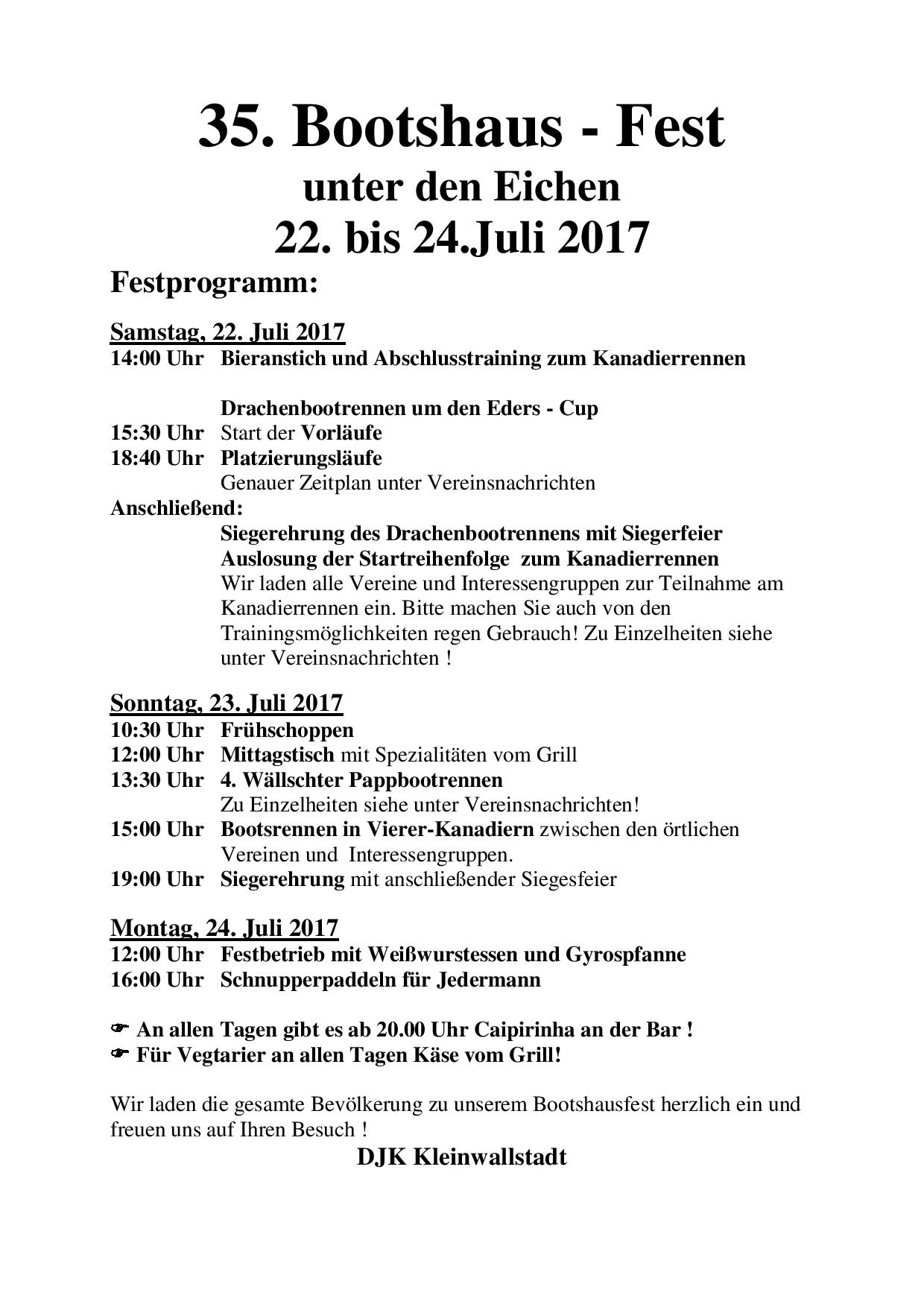 Bootshausfest 2017