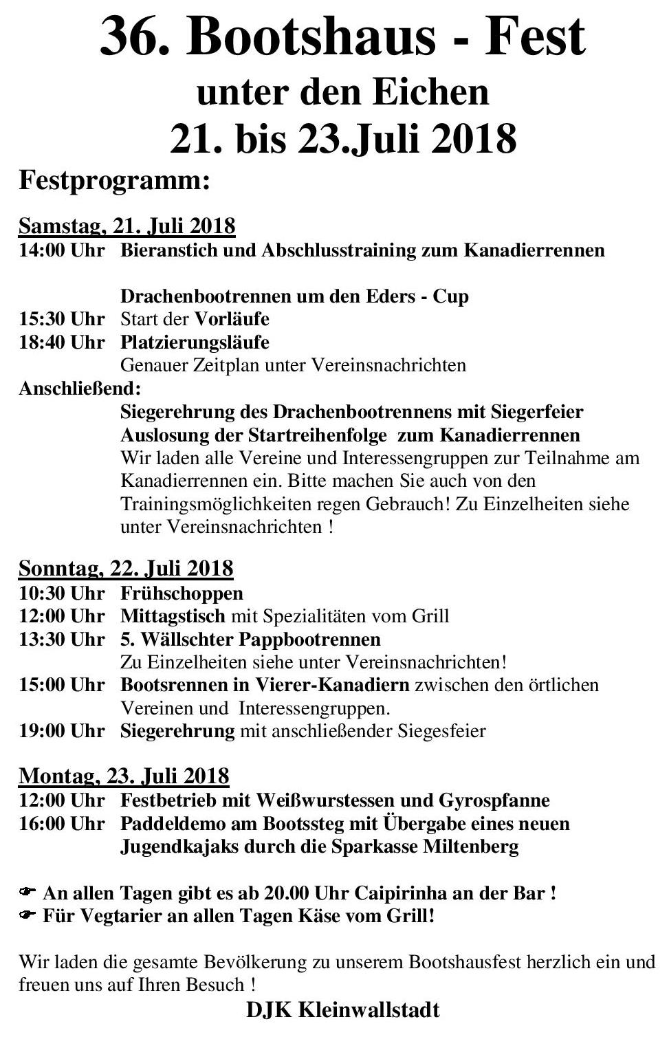 Bootshausfest 2018