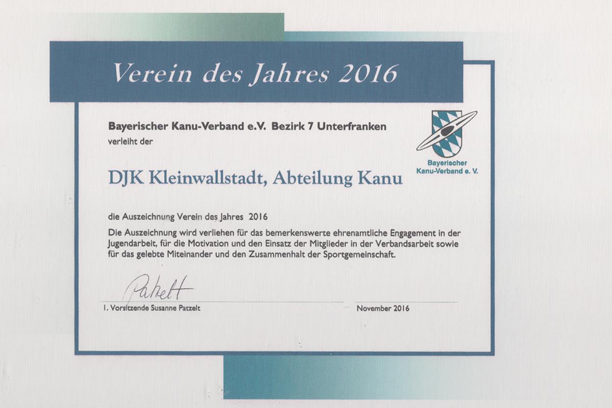 Verein des Jahres 2016